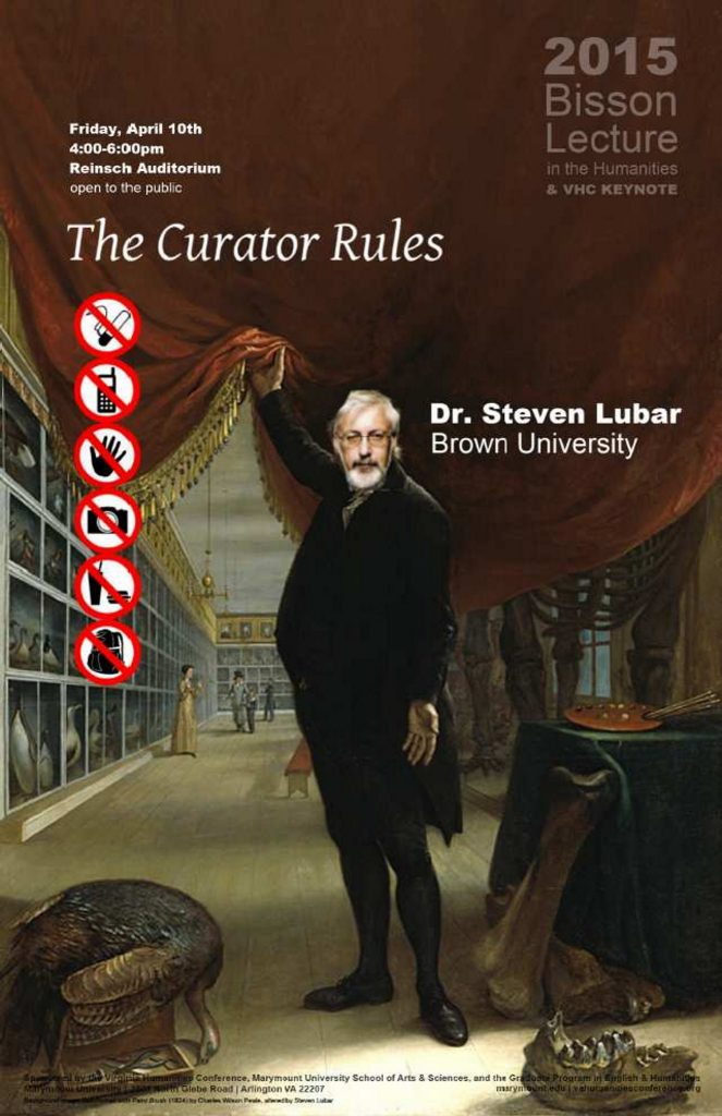 11x17 poster for the 2015 Bisson Lecture with Steven Lubar