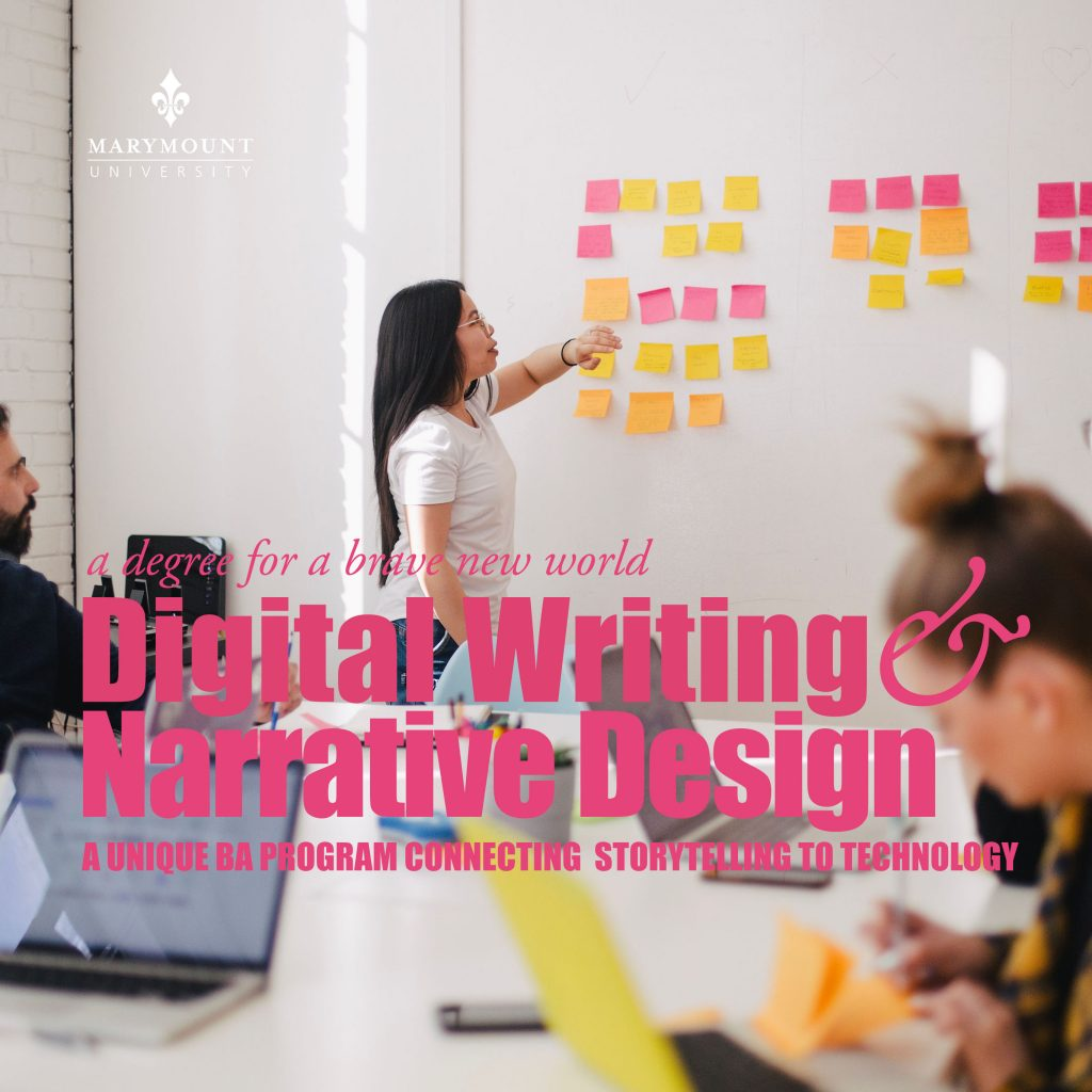 Square Advertisement for Digital Writing and Narrative Design program